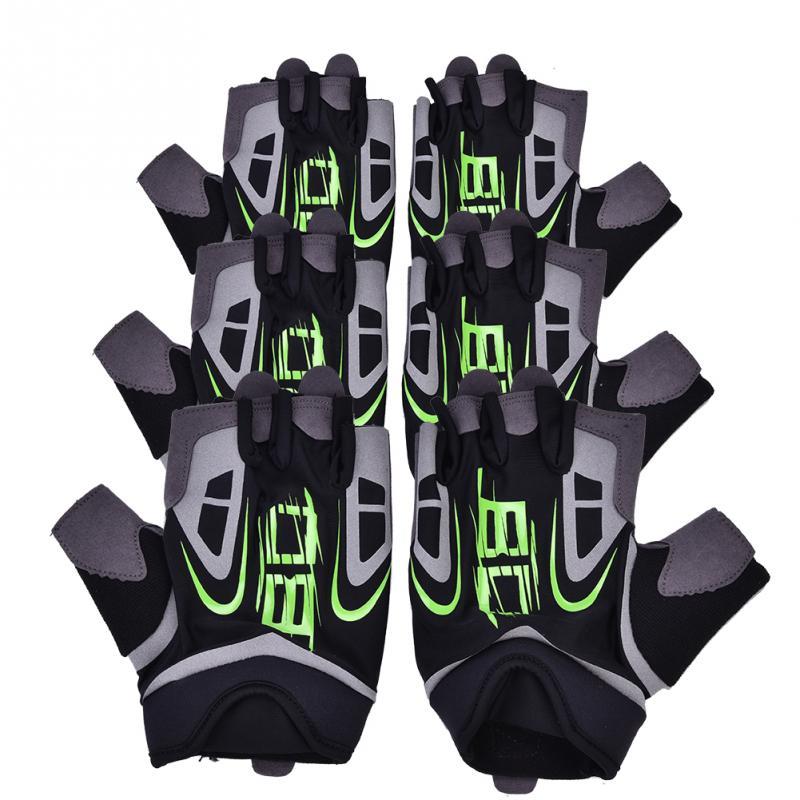 Кроссовки 1 Пара Гибкие велосипедов половины пальцев перчатки Крытый спортивный зал Фитнес тренировки перчатки без пальцев для унисекс