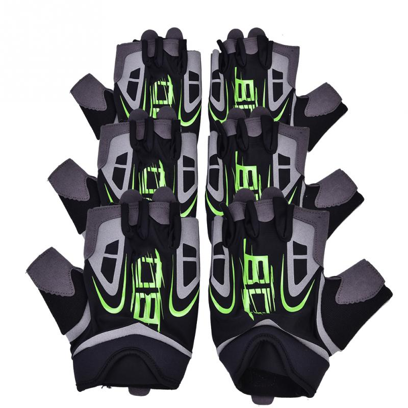 BOODUN 1 Pair Flexible Bicycle Half Finger Gloves Indoor Sports Gym Fitness Training Exercise Fingerless Gloves For Unisex