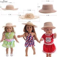 3 вида стилей Милая тканая шляпа подходит 18 дюймов американский и 43 см Кукла одежда аксессуары, игрушки для девочек, поколение, подарок на день рождения