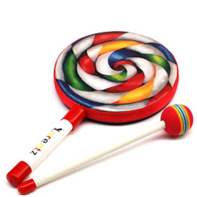 Carl Percussion Instrument 6 Inch Lollipop Tambourine Drums Music Teaching Aid Musical Lps Toys Pandeiro Xylophone