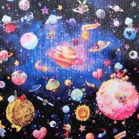 145cm 50cm Gorgeous Little Universe Space Galaxy Nylon Waterproof Fabrics Sewing Cloth For Bag Talbecloth Patchwork