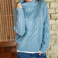 New Women S Winter Sweaters Thicken Turtleneck Pullover Knitted Sweaters Women Sweater And Pullovers Warm Women