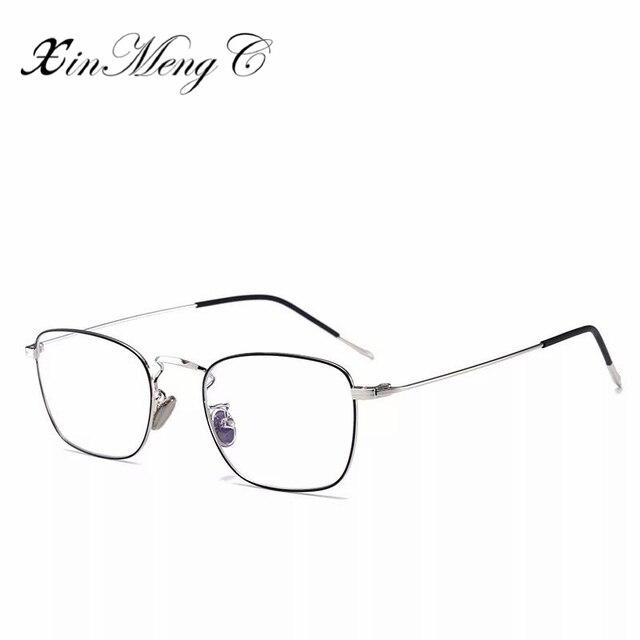 ee127f8023 XinMengC Small Square Frame Women Optical Eyeglasses Mens Office Workers Clear  Lens Plain Mirror Vintage Oculos De Grau