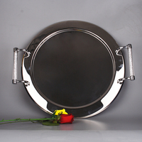 2015 Free Shipping Handmade Hot Sale Stainless Steel Rectangle Serving Plate
