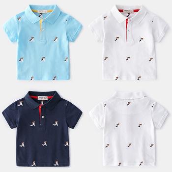 Letnie chłopięce koszulki i koszulki z krótkim rękawem chłopięce koszulki Polo dziecięce koszulki z nadrukiem Polo tanie i dobre opinie vinnytido COTTON Cartoon Oddychające Pasuje prawda na wymiar weź swój normalny rozmiar 31234 Male Short Sleeve Summer