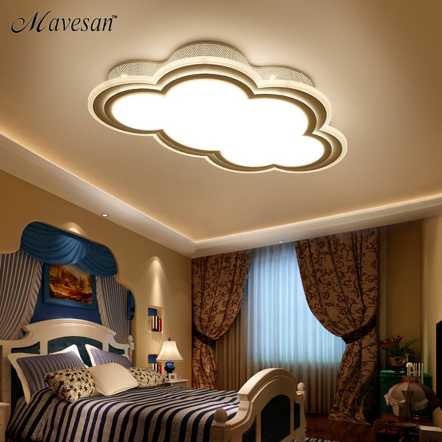 New Kids Ceiling Led Light For Bedroom Remote Control Cloud Type Ceiling  Mounted Luminaire Light Fixtures