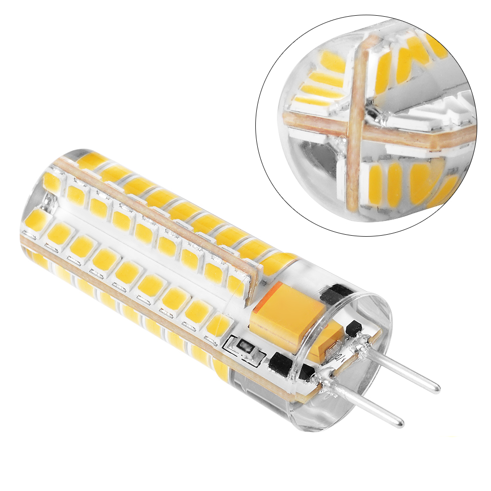 High Brightness GY6.35 5W 72 SMD 2835 LED Corn Lamp AC/DC 12V Silicone Crystal Light Bulb Dimmable White Warm White For Home Hot high quality g9 3w 80 led 3014 smd crystal silicone corn light lamp bulb pure white warm white 110 220v
