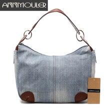 Annmouler Фирменная Новинка Для женщин мешок большой Ёмкость Сумки высокое качество дамы сумка Регулируемый Джинсы для женщин Crossbody сумка