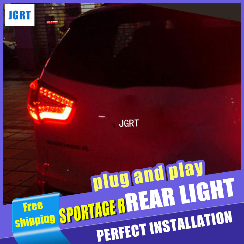 Car Styling for Kia Sportage R Taillight assembly 2010-2014 Sportage LED Tail Light Rear Lamp DRL+Brake light with 2pcs. дефлекторы окон skyline kia sportage 3 2010 4 шт