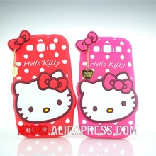 For Samsung Galaxy S3 i9300 Case Case 3D Lovely Cute Hello Kitty Kt Cat Silicon Back Case Soft Cover Phone Case