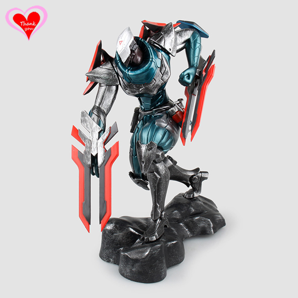 Love Thank You LOL The Master of Shadows Zed Project Ver. PVC Figure Toy Collection model gift New Hobby конструктор pilsan brick 43 детали 03 251