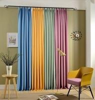 Solid Blackout Curtain Pastoral Curtains Cortinas for Living Room Para Sala De Luxo Rideaux Pour Le Salon Cozinha Window Bedroom