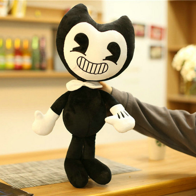 50cm ale Bendy Plush Toys Game Horror Bendy and Boris Peluche Dolls Baby Kids Friends Gift kawaii baby plush doll toy bendy and the ink machine bendy cartoon plush stuffed doll toys gift for kids child soft bendy dolls