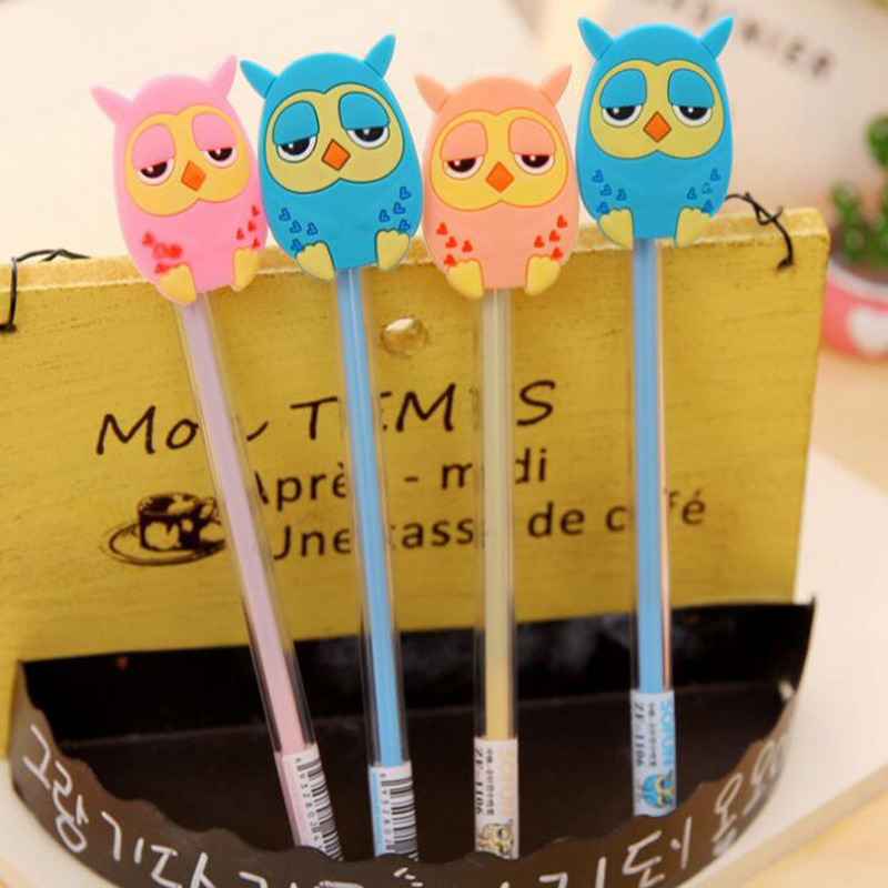 Fashion 15pcs/lot Cute Cartoon Gel Pen Pens School Supplies Stationery Christmas Novelty Gifts Prize Writting Office Supply Pen