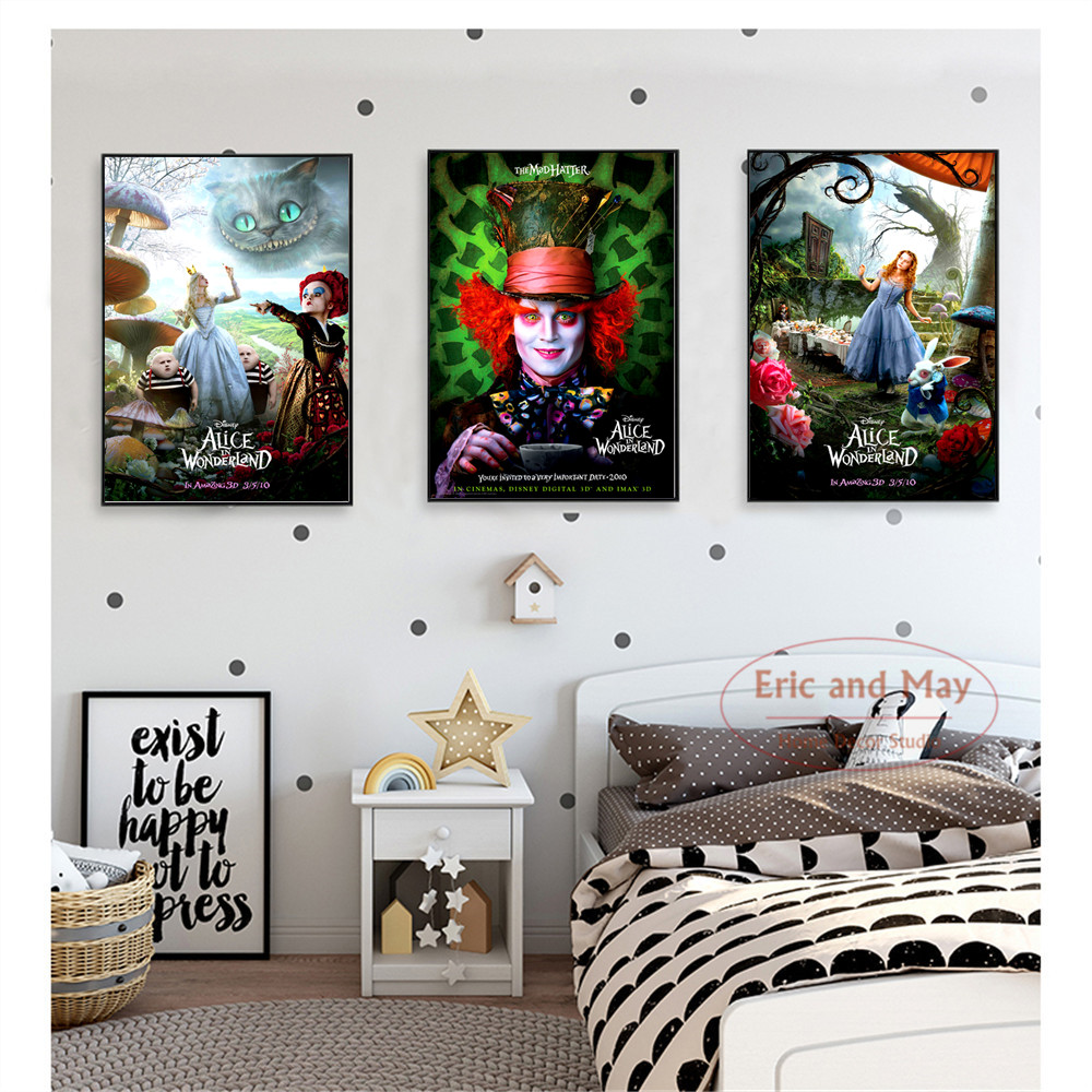 Alice In Wonderland Movie Art Posters And Prints Wall Art Canvas Painting For Living Room Decoration Home Decor Unframed Quadros Best Offer 6a199 Cicig
