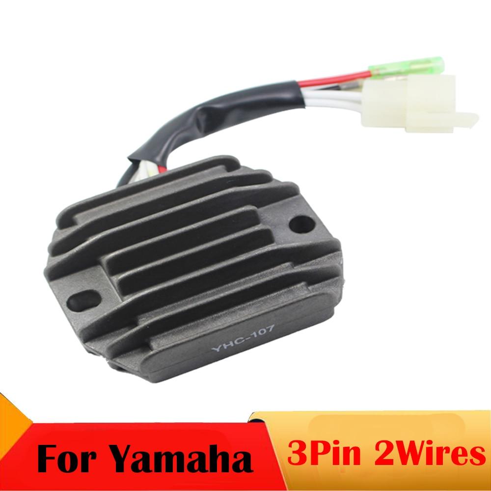 3 pines 2 hilos voltaje de la motocicleta regulador rectificador para yamaha yfb 250 yfm 350