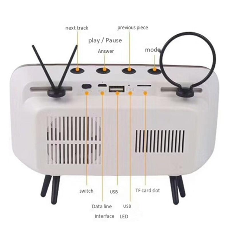 Tragbare klassische bluetooth lautsprecher retro mini tv audio player - Tragbares Audio und Video - Foto 6