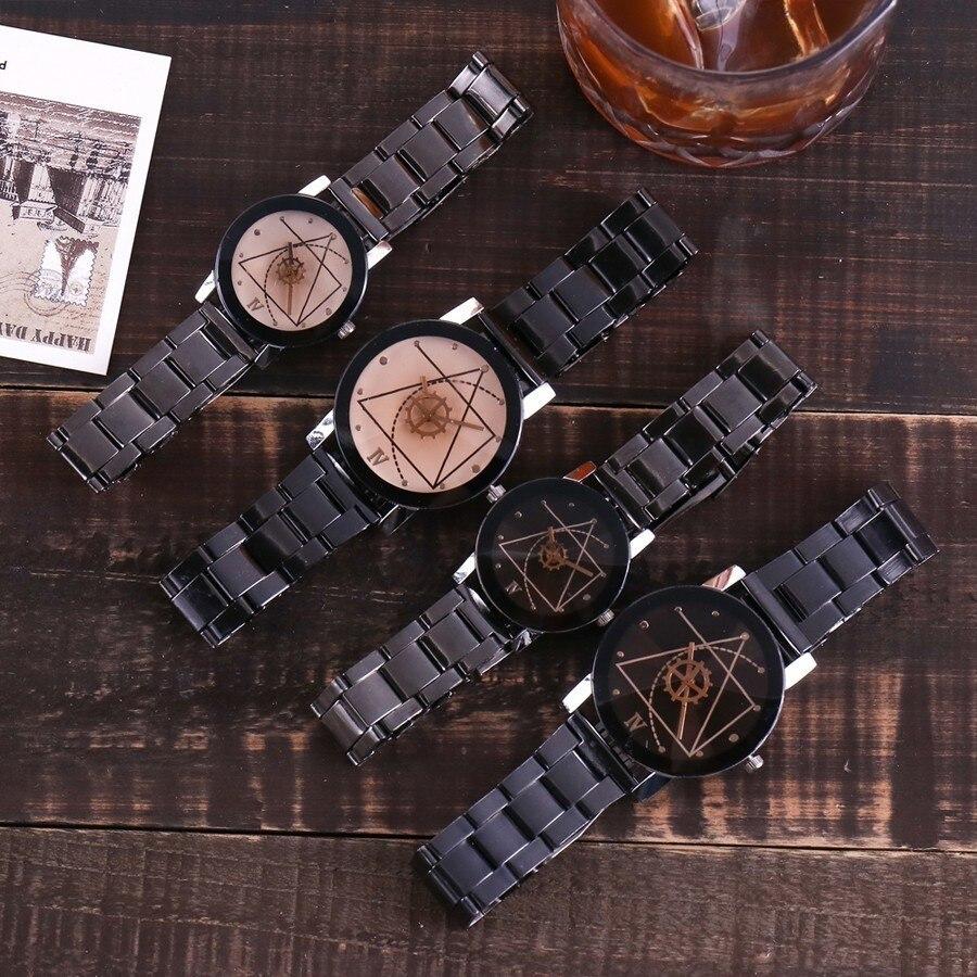 Hot Vansvar Brand Vintage Steel Quartz Lovers Watch Women Gear Style Men Watches Ladies Casual Wristwatches Relogio Feminino