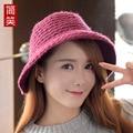 Г-жа Ма Haimao зимняя шерсть шляпа, вязаная шапка ретро Корейский лук купол теплый все матч шляпа рыбака