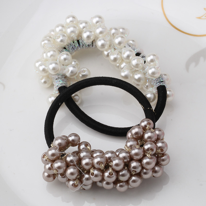 Hot Sale New 2016 Hair Accessories Pearl Elastic Rubber Bands Headwear For Women Girl Ponytail Holder Scrunchy Ornaments Jewelry