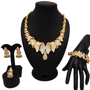 NEW DESIGN fashion jewelry sets gold jewelry sets new design for african woman necklace jewellery african beads jewelry set(China)