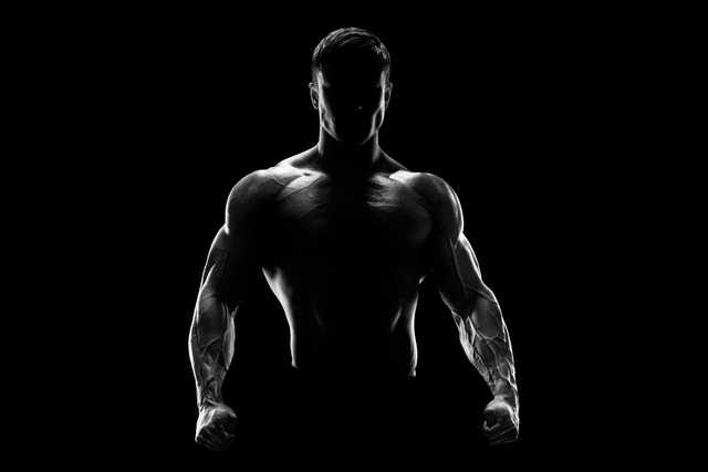 Fitness Man Silhouette Strong Muscle Sports Bodybuilder SH23 Room Home Wall Modern Art Decor Wood