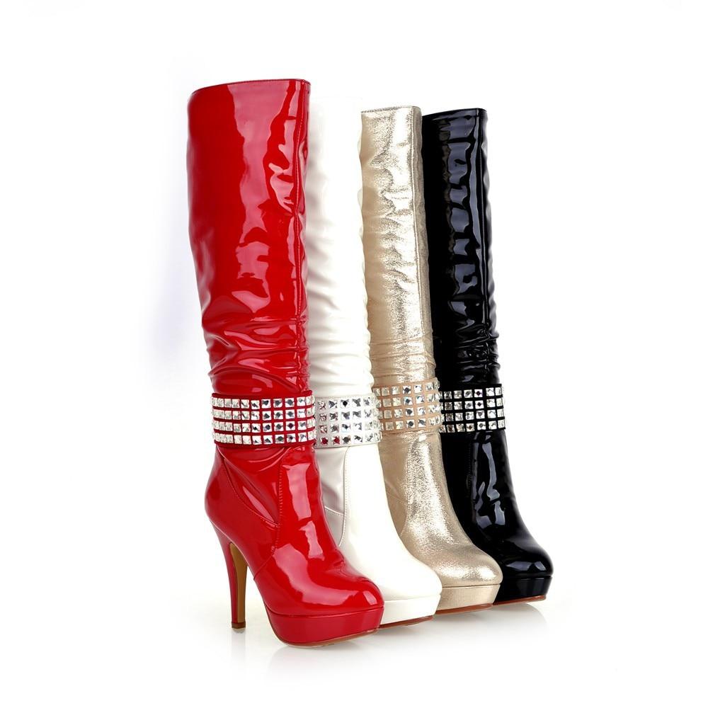 Red And Gold Platform Heels