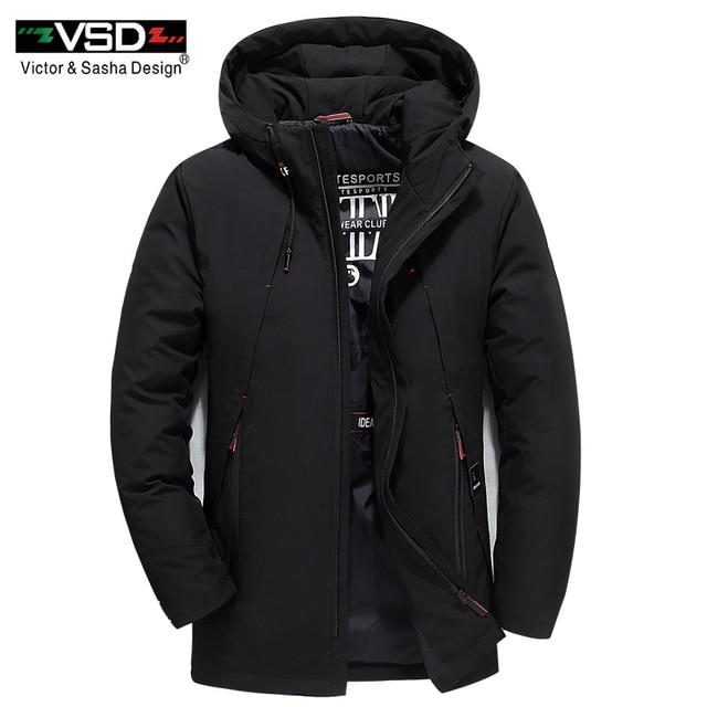 VSD зимняя куртка 2019 отсоединены Водонепроницаемый 70% белая утка вниз Для мужчин куртка толстые теплое пальто с капюшоном воротник ветровки Лидер продаж VSD111