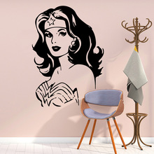 Modern Wonder Woman Wall Stickers Home Furnishing Decorative Sticker Living Room Children Decal Mural adesivi murali