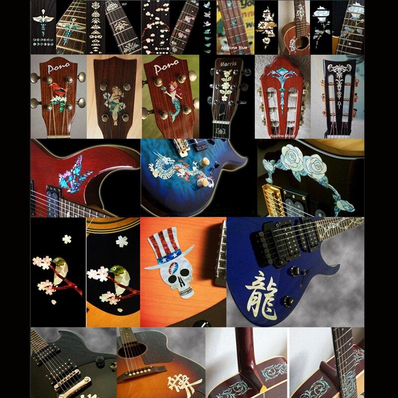 Autocollants incrustés décalcomanies autocollant pour corps de guitare, cou, poupée, 3 couleurs disponibles - 2