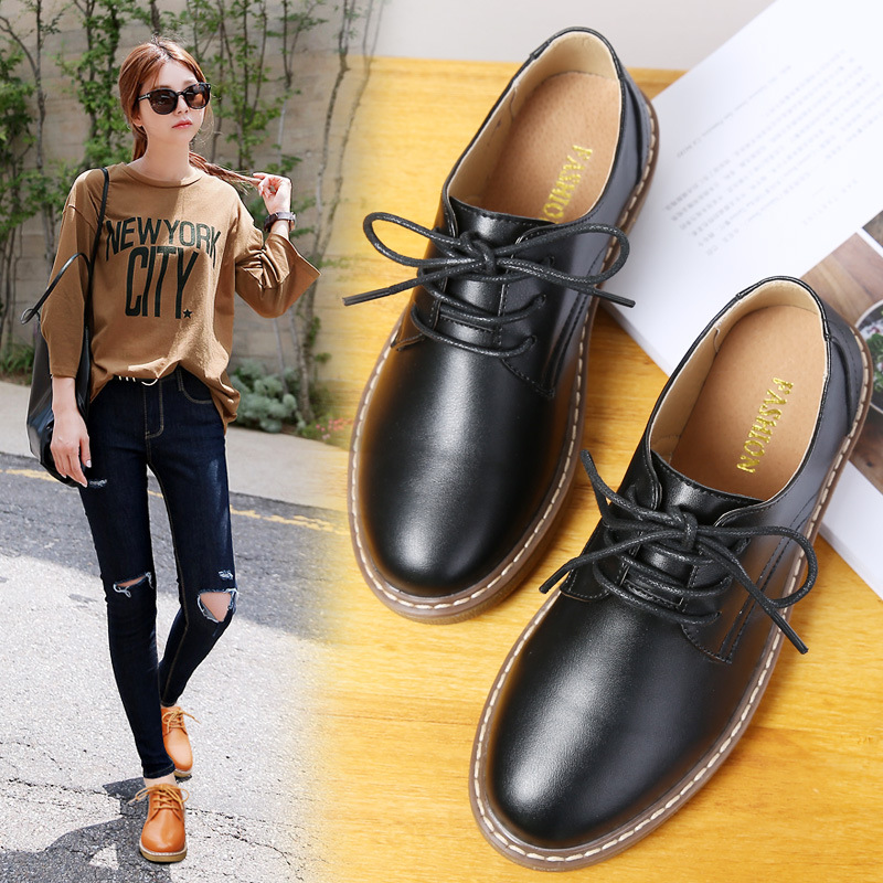 2018 Spring Autumn Women Flats Genuine Leather  Zapatillas mujer Casual Shoes Woman Comfortable Lace Up Women's  Ladies Shoes 00 vtota shoes woman flat summer shoes fashion genuine leather single shoes 2017 new zapatillas mujer casual flats women shoes b44