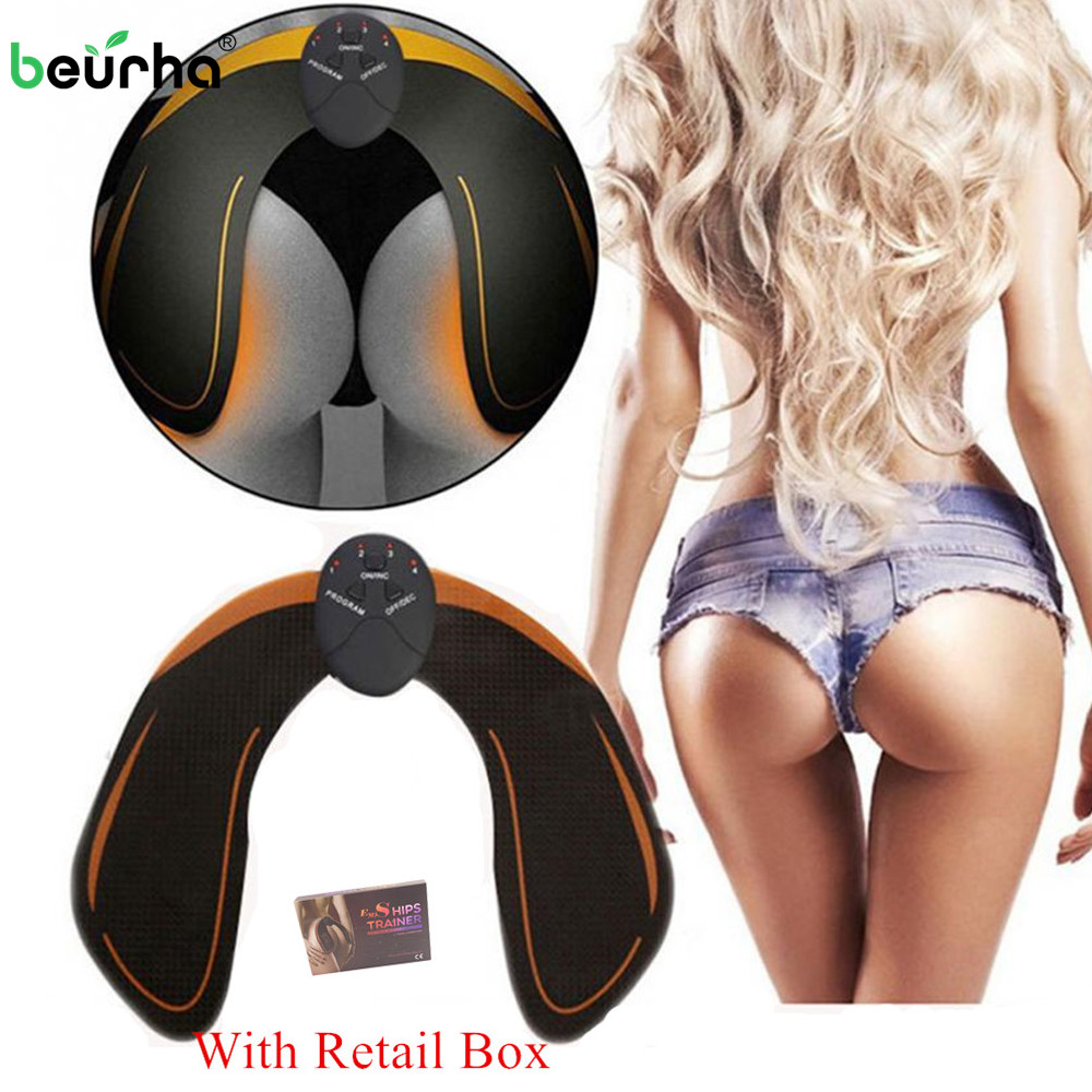 EMS Hips Muscle Trainer Stimulator Vibrating Exercise Machine Buttocks Butt Lifting Home Fitness Workout Equipment 6 Modes ems hips trainer