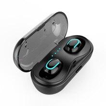 Aimitek Q13S TWS Bluetooth 5.0 kulaklık Mini Twins kablosuz Stereo kulaklık In kulak kulaklık şarj kutusu akıllı telefonlar için Mic ile