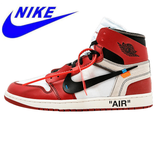 promo code 8d4ac ab017 Nike Air Jordan 1 X Off White AJ1 L Limited Edition Limited Men s Outdoor  Shoes Sneakers Basketball Shoes, Cool AA3834 101
