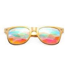 Kaléidoscope Lunettes Lunettes Rave Festival Unisexe Holographique lunettes  de Soleil Hommes Coloré Party Celebrity lunettes de 826ba5a69a91
