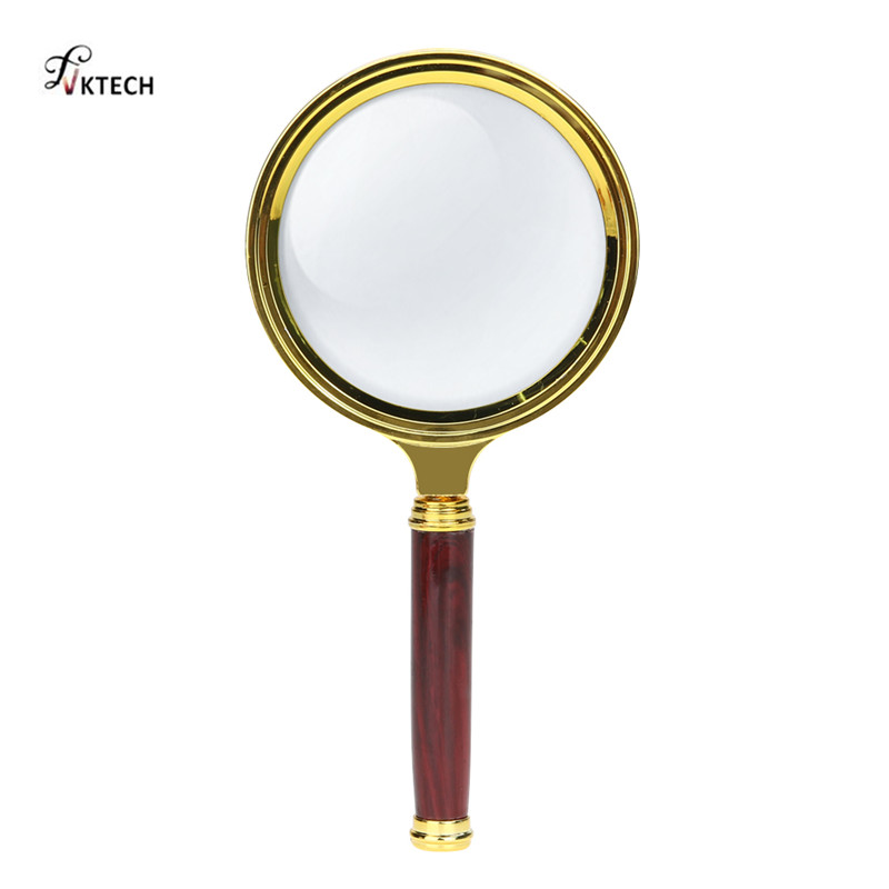 10X Magnifying Glass 60mm Portable Handheld Magnifier for Jewelry Newspaper Book Reading High Definition Eye Loupe Glass
