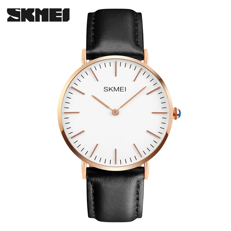<font><b>SKMEI</b></font> Brand Men Women Luxury Quartz Watches Fashion Casual Ultrathin Wristwatches Relogio Masculino Hours <font><b>1181</b></font> Relogio image