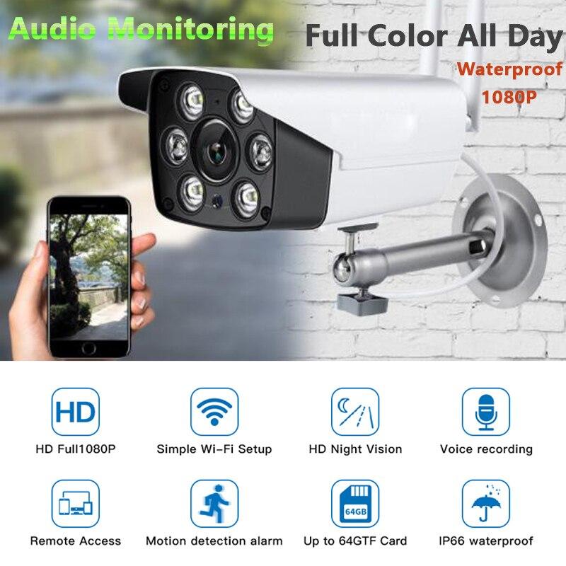 1080 P métal sécurité étanche IP Wifi caméra vidéo Surveillance couleur extérieure IP caméra sans fil avec mouvement Audio