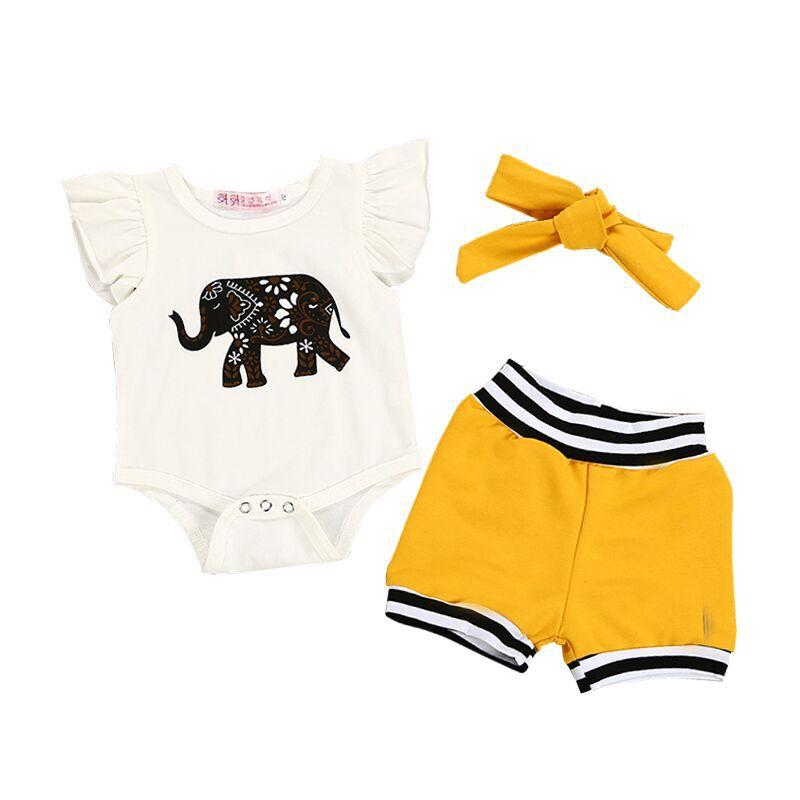 85f66acd30e νεογέννητα ρούχα για κορίτσια βρεφικού βαμβακιού Κοντό μανίκι ...