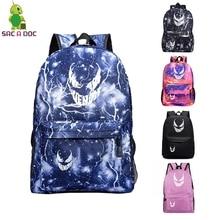 Venom Female Backpacks Custom Backpack Unisex Notebook Bag Casual School Bags for Teenage Girls Galaxy Bag Travel Men Mochilas