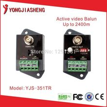 5 pairs Up to 2400m single channel active power video balun for transmitter and receiver