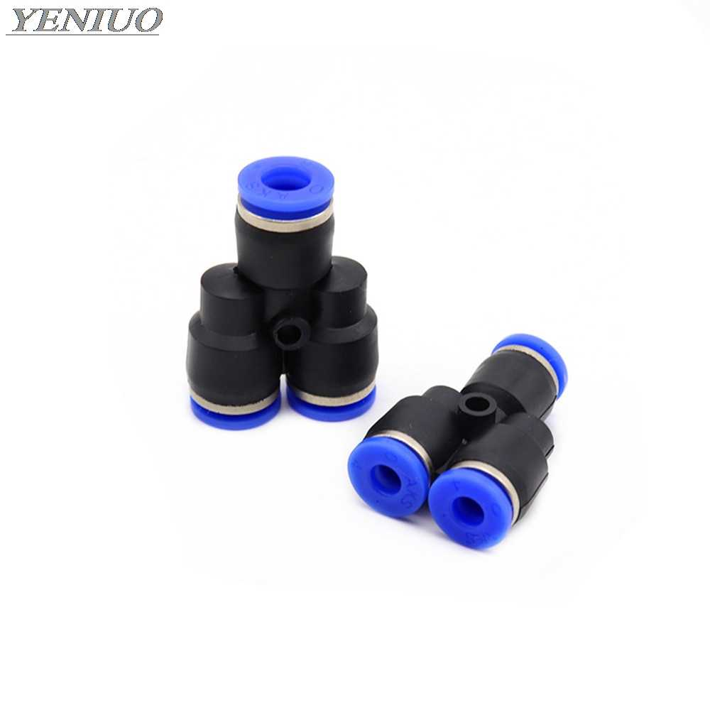 "PY"" 3 Way Port Y Shape Air Pneumatic 4mm-16mm OD Hose Tube Push in Gas Plastic Pipe Fitting Connectors Quick Fittings"