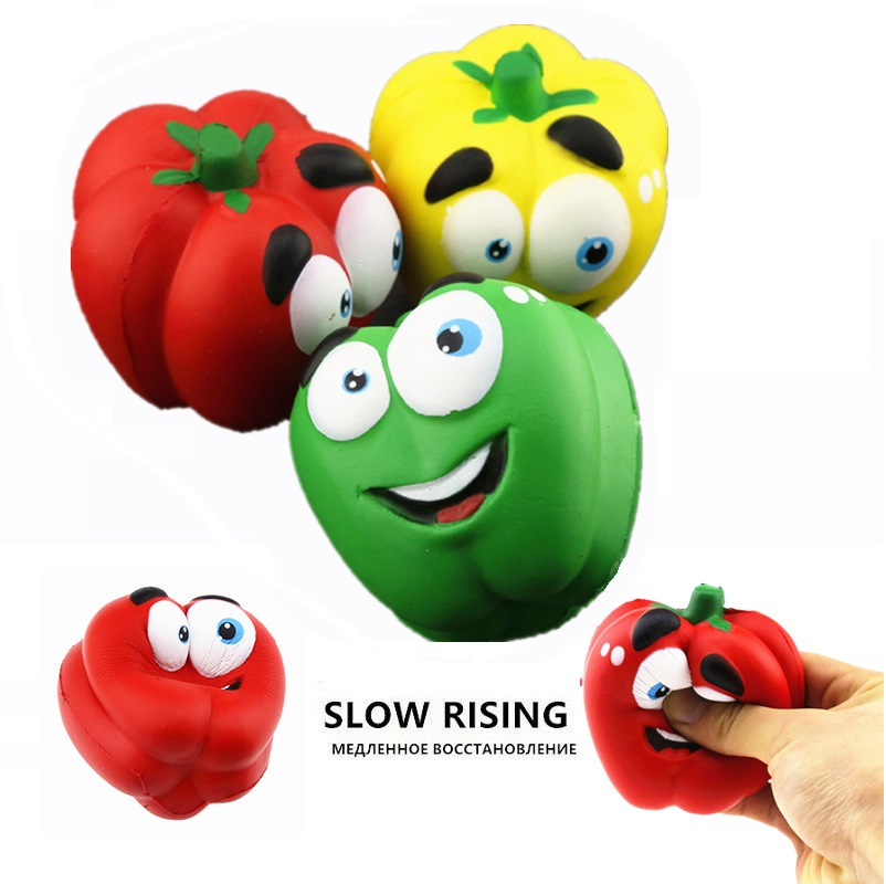 Jumbo Squishy Soft Slow Rising Pepper Vegetables Squishi Toys For Child Antistress Toy Funy Gift Squeeze Wholesale