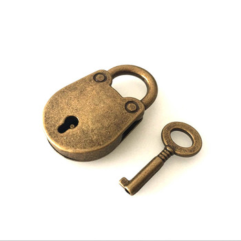 Bronze Plated Vintage Padlock Antique Bag Parts & Accessories
