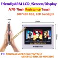 Free shipping , FriendlyARM A70 , 7inch Touch Screen Resistance Touch Display , For MINI2440 MICRO2440 TINY6410 MINI6410 TINY210