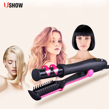 2 In 1 hair curler and straightener Hair Straightening comb Thermal Equipment Professional Comb hair corrugation straightener