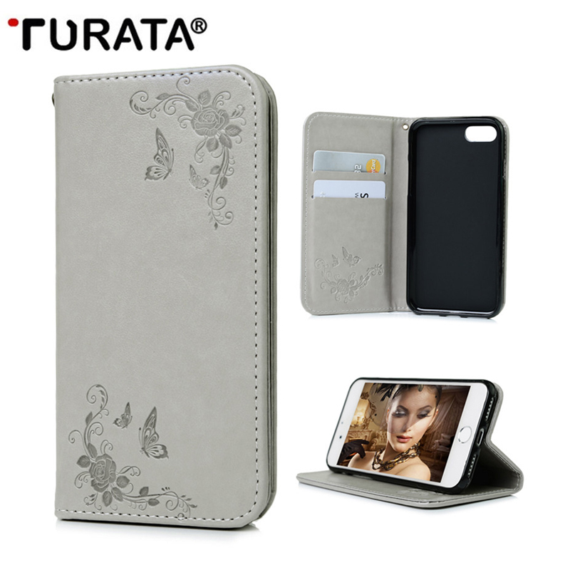 For iPhone7 Cases New 3D Embossing Smart Magnetic PU Wallet Flip Leather Cover Case For iPhone 7 4.7 Card Slots Stand Phone Bag