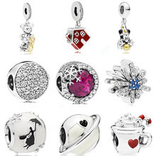 AIFEILI European 1pc Christmas Gift House Cup Snowman DIY Bead fit Original Pandora Charms Silver Bracelet Jewelry for Women(China)