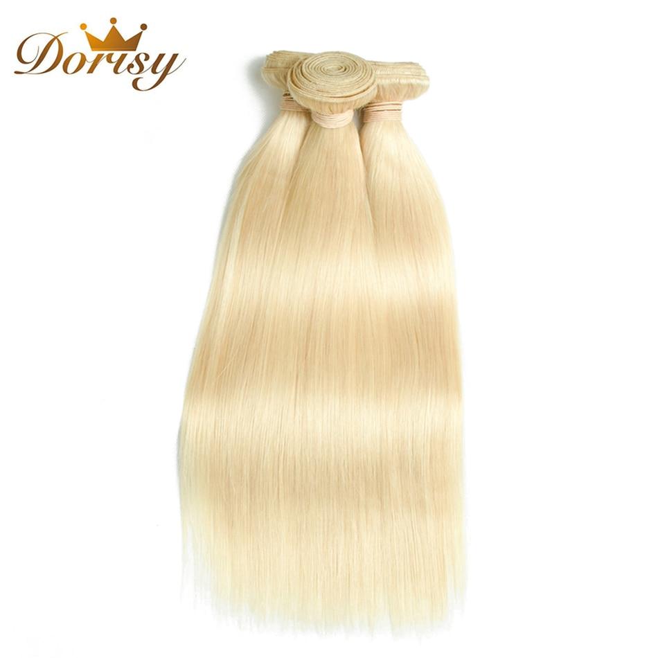 Dorisy Hair Remy Indian Straight 10-24 Inch 613 Blonde 100% Human Hair Weave Bundles 3 Pcs Bundles Hair Extension Free Shipping