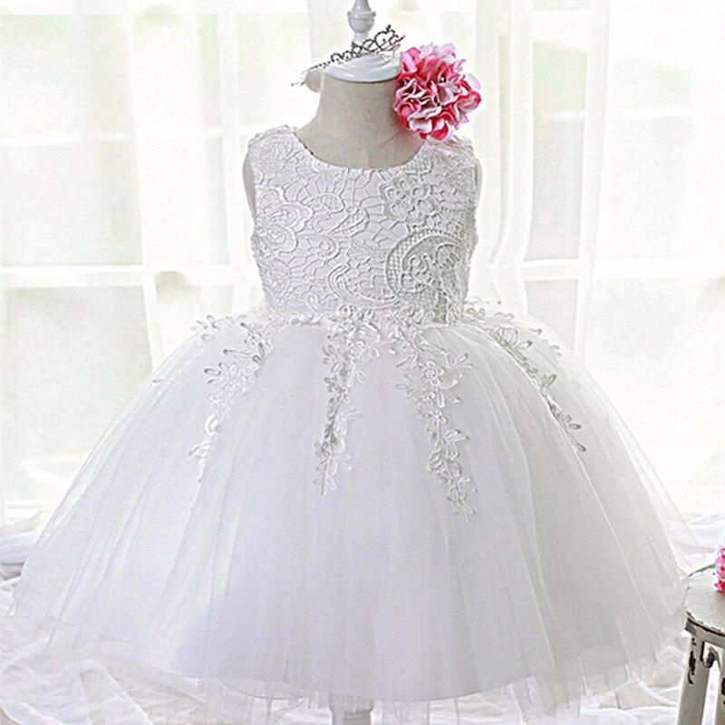 Moda formal dress baby girl patrón de arco de la boda recién nacido para niño de